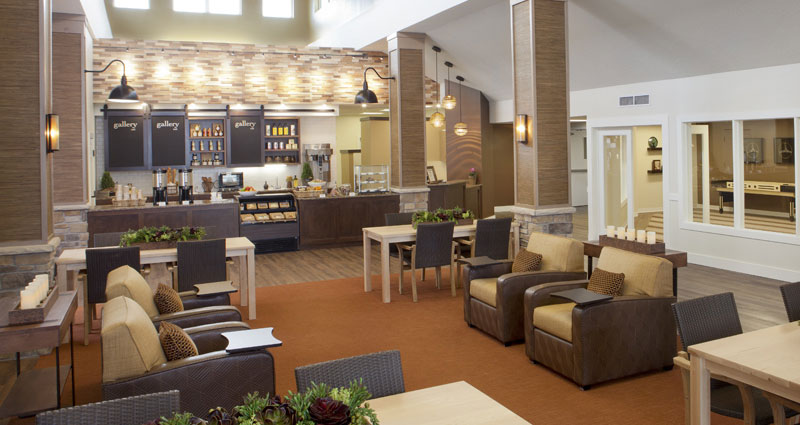 Lobby and Gallery Cafe - The Village at Legacy Pointe